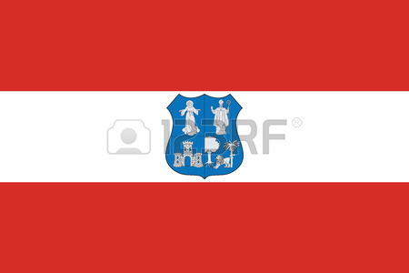 Flag Of Asuncion, Paraguay. Vector Format Royalty Free Cliparts.