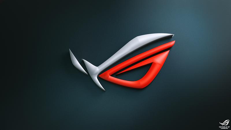 3D ROG logo wallpaper.