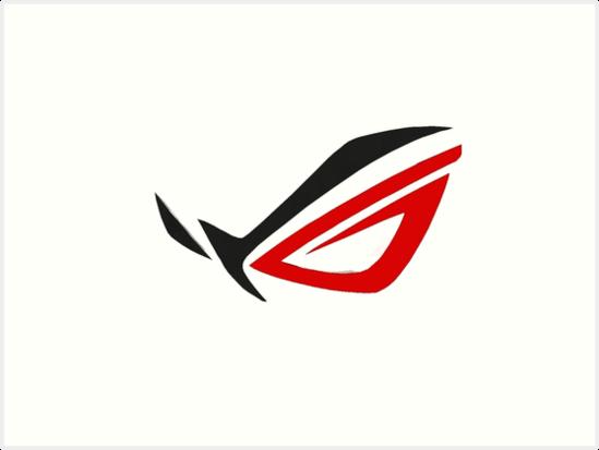 'Asus ROG Logo Simple' Art Print by BurningSulfurYT.