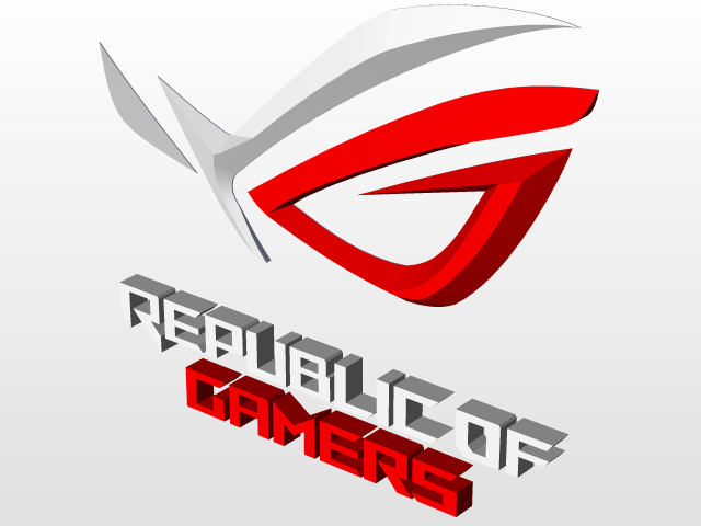 3d logo of asus ROG.