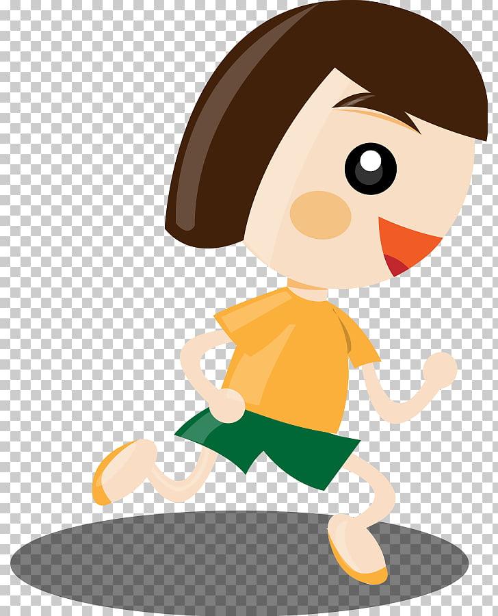 Niña corriendo, niña asustada PNG Clipart.