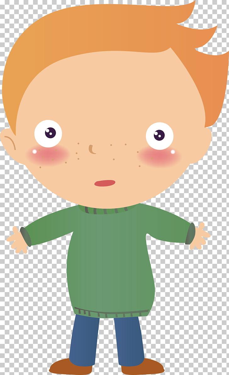 Boy Cartoon , Frightened boy PNG clipart.