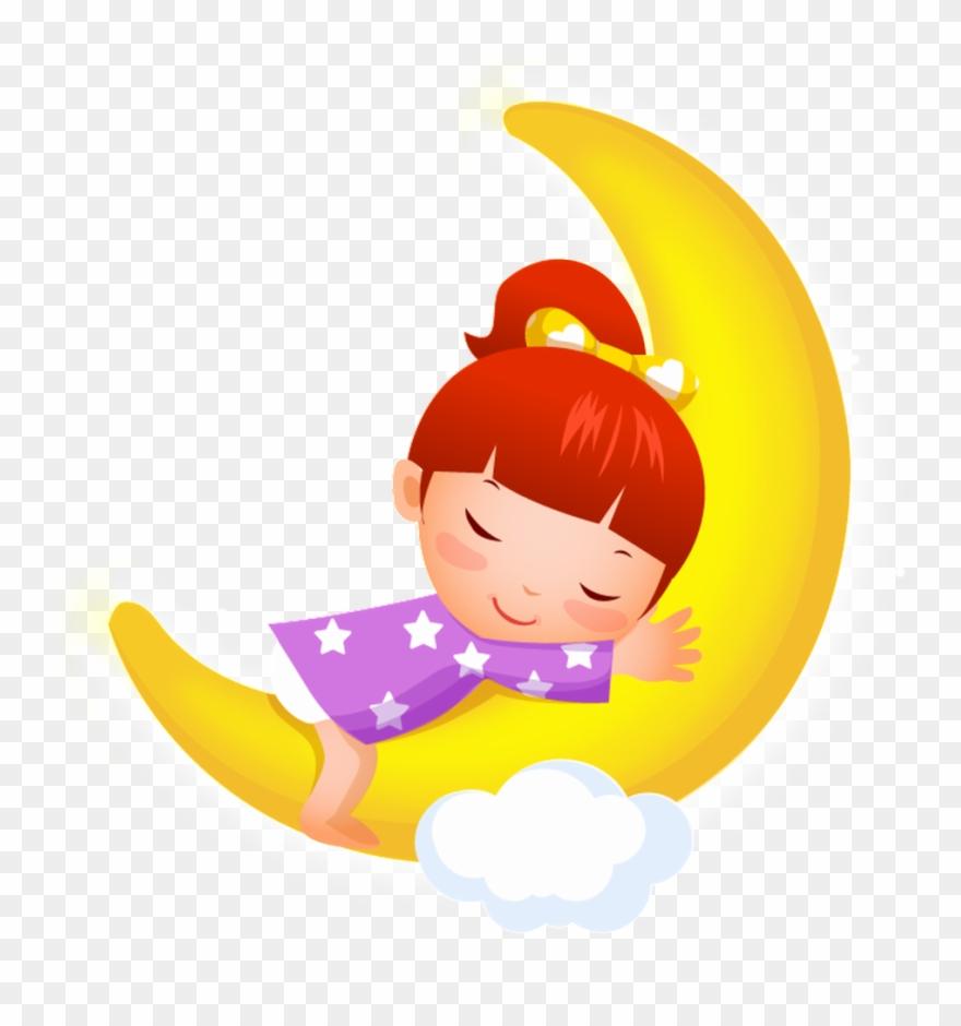 Sleeping Little Girl Cartoon Transparent.