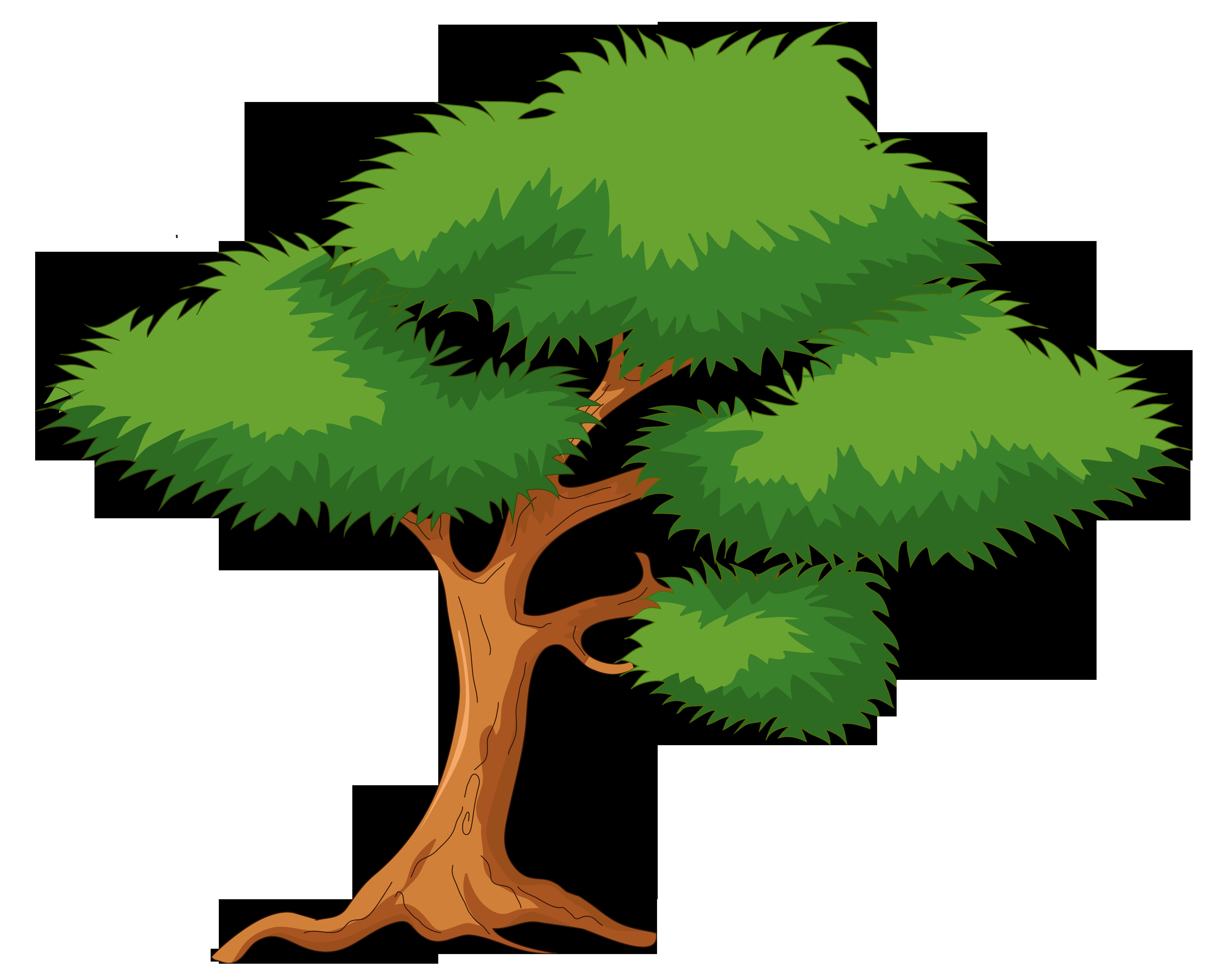 Green Cartoon Tree PNG Clip Art.