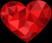 Asymmetrical Heart PNG Clipart.