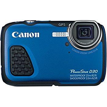Amazon.com : Canon PowerShot D30 Waterproof Digital Camera, Blue.