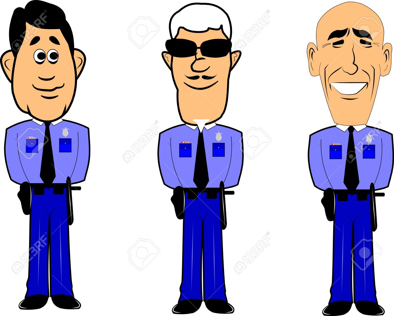 Policemen At Attention Royalty Free Cliparts, Vectors, And Stock.