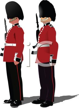 Standing At Attention Clipart.