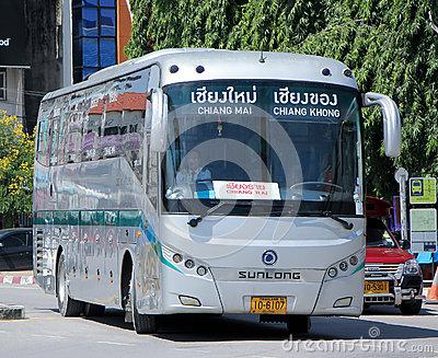 Sunlong Bus Of Greenbus Company. Editorial Photo.