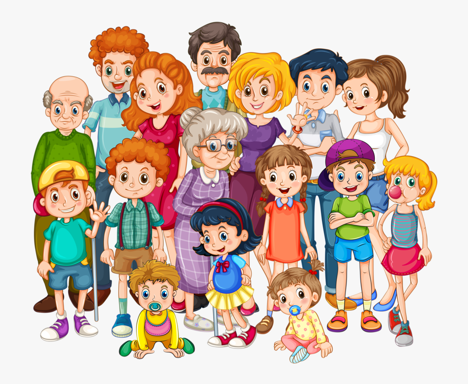 Big Family Clipart.
