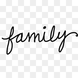 Family Word PNG.