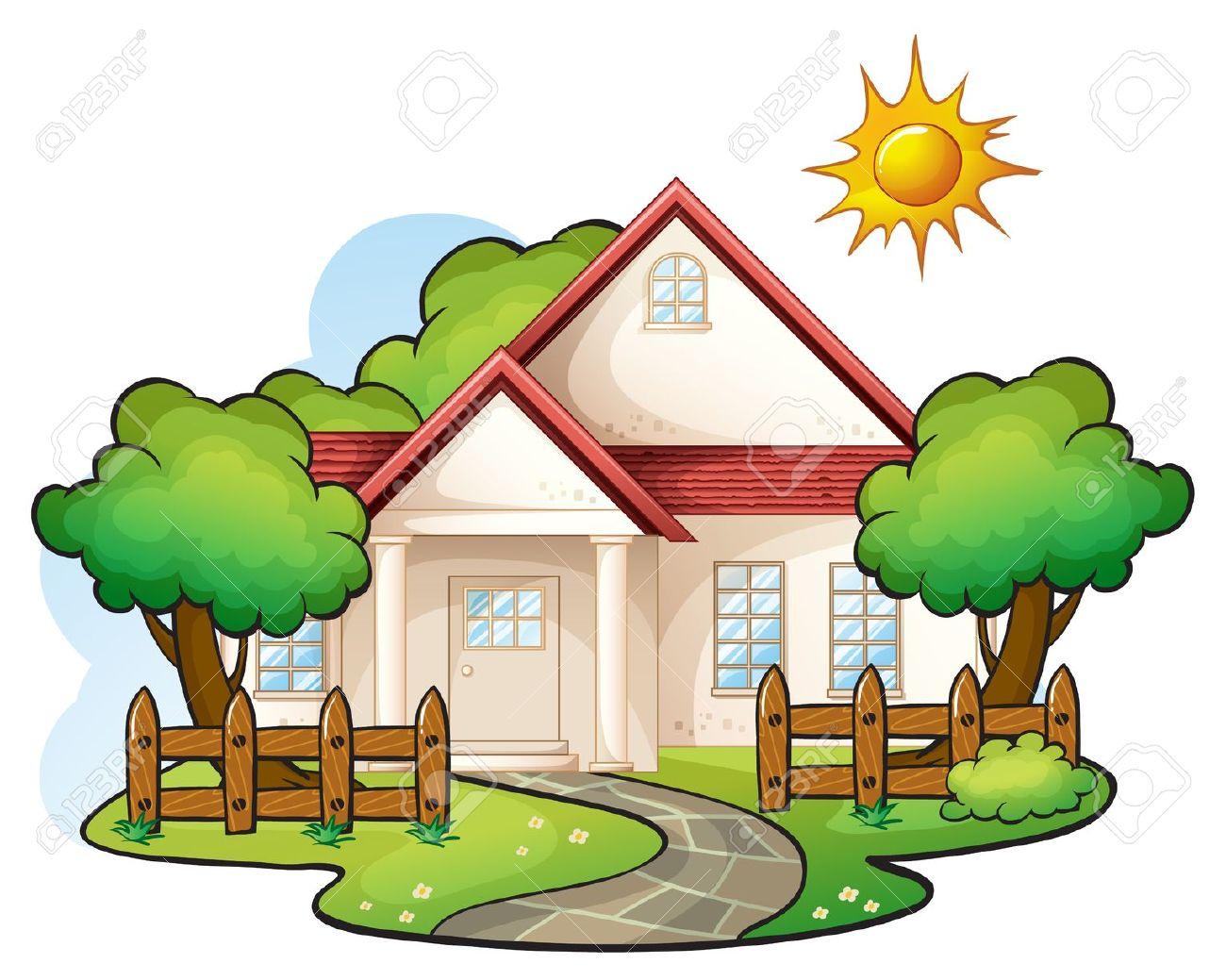 Garten Haus Clipart