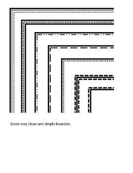 Clean Simple Borders on PowerPoint (at least 8 borders.