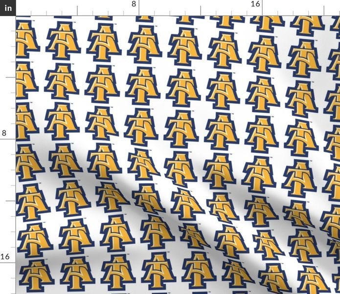 Fabric by the Yard NC A&T Logo.