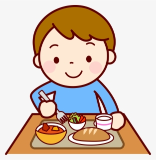 Free Eating Lunch Clip Art with No Background.