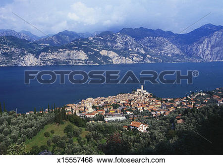 Pictures of Malcesine on the Coast of Lake Garda, Veneto, Italy.