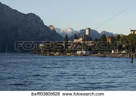 "Pictures of ""Malcesine, historic town, Lake Garda, Veneto, Verona."