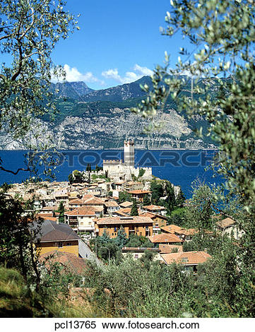 Stock Image of Lake Garda, Malcesine pcl13765.