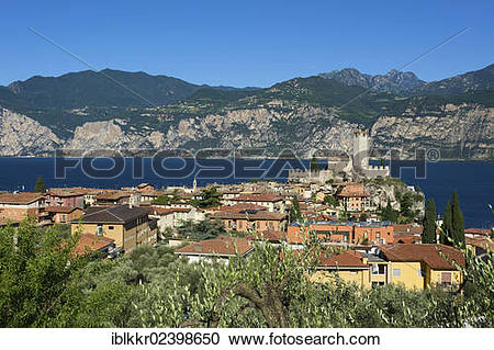"Stock Photography of ""Malcesine, Lake Garda, Italy, Europe."