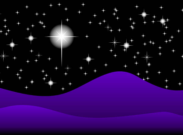 Starry Sky at Night Clipart.