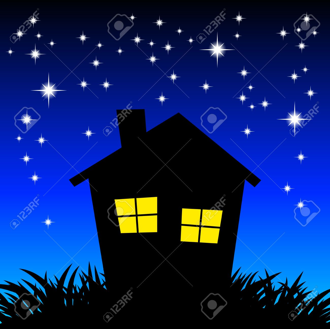 At night clipart.