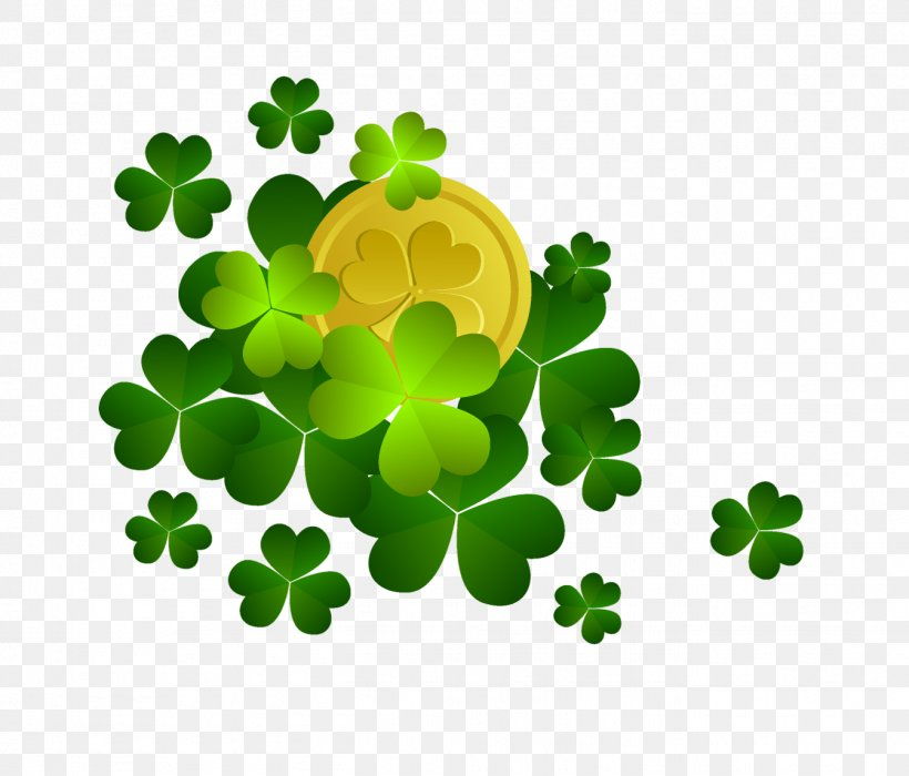 Shamrock Saint Patrick\'s Day Clip Art, PNG, 1344x1148px.