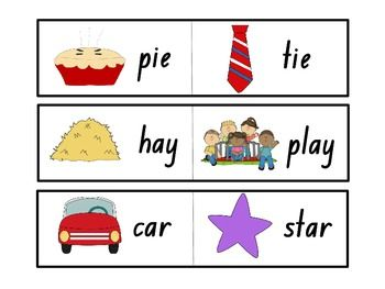Rhyming Word Puzzles.