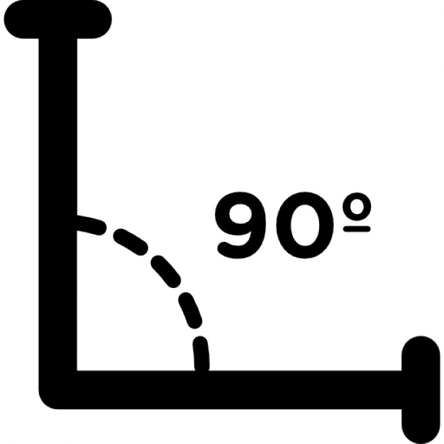 Right angle of 90 degrees Icons.