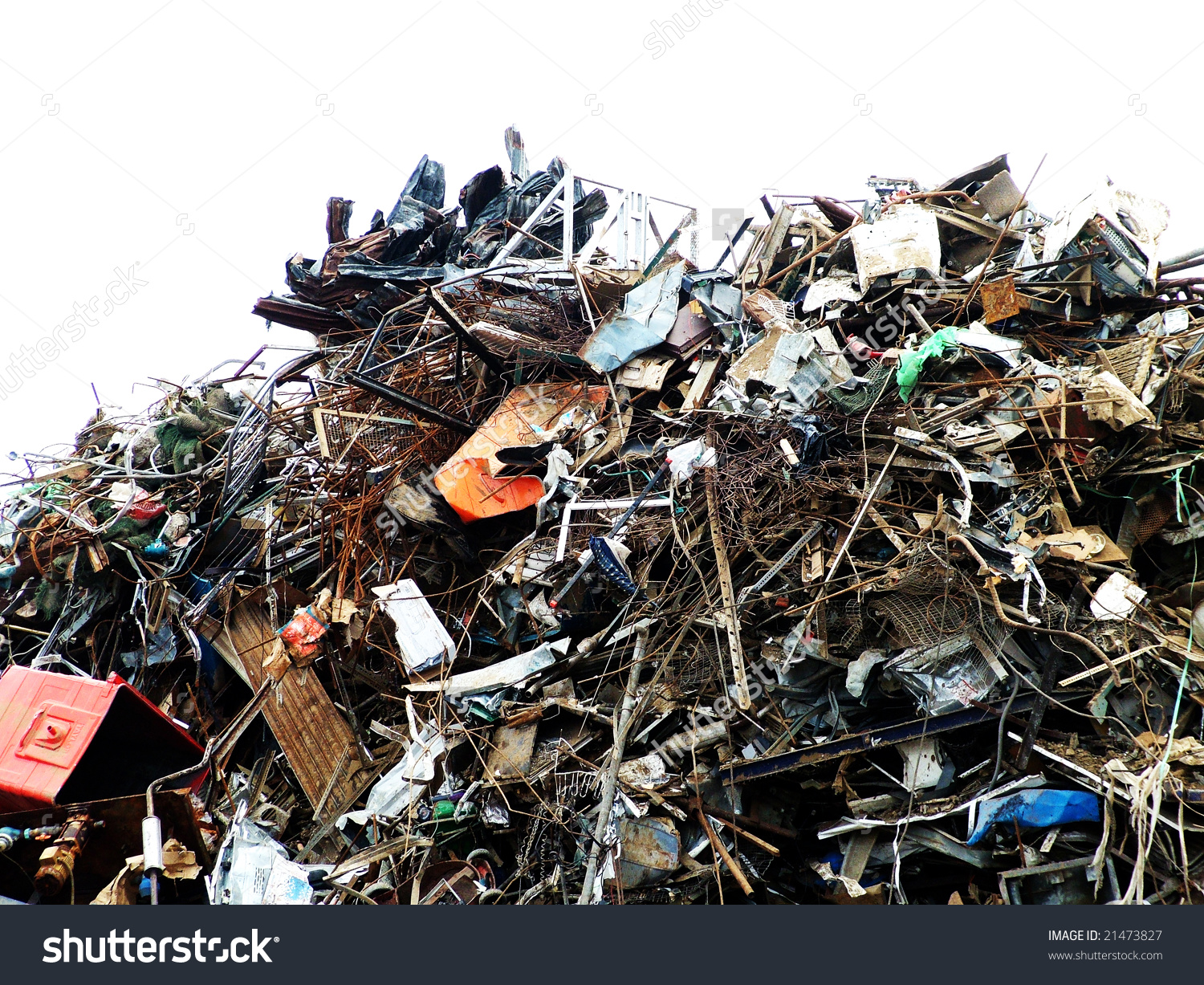 Scrap Yard Stock Photo 21473827.
