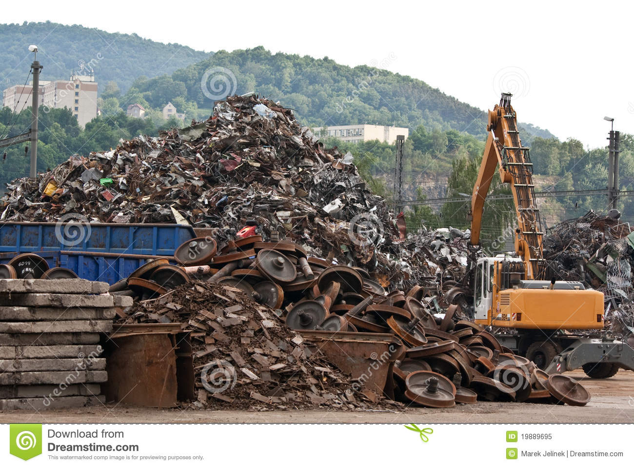 Scrap Metal Yard Royalty Free Stock Photo.