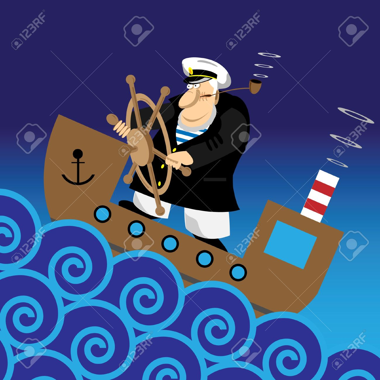 Sailor at sea clipart.