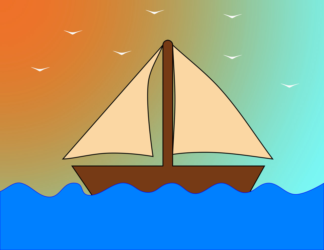 Boat at Sea by acrogenesis on DeviantArt.