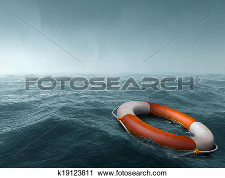 Clipart of Lost at sea k19123811.