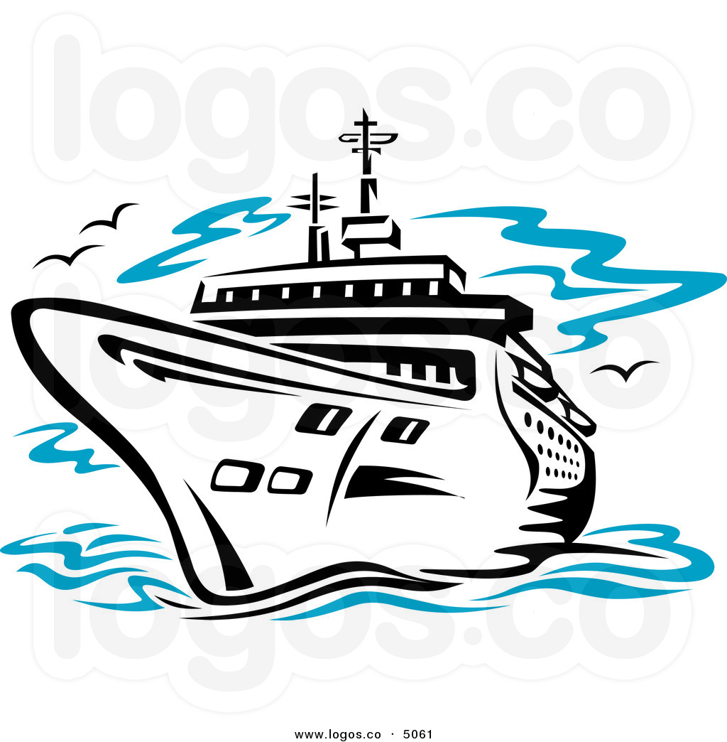 Clipart ships at sea.