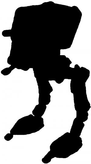 Star Wars Walker Silhouette.