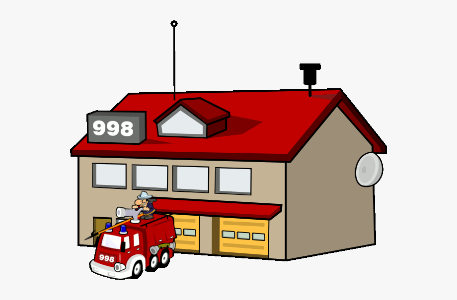 Fire Department Fire Station Clipart , Transparent Cartoon.