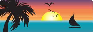 Clip Art Water Sunset Clipart.