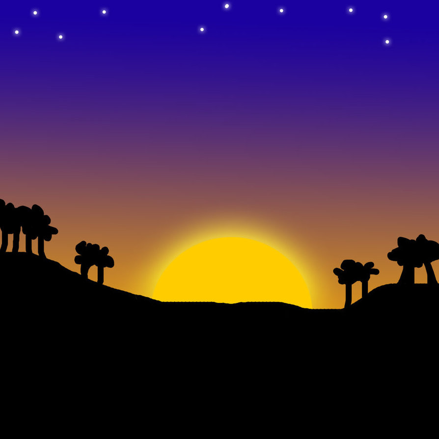 Sunset Night Clipart Clipground