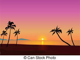 Tropical sunset Stock Illustrations. 9,963 Tropical sunset clip.