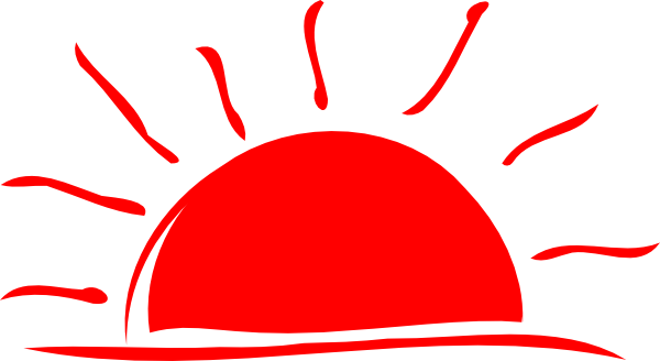 Water sunset red clipart #16