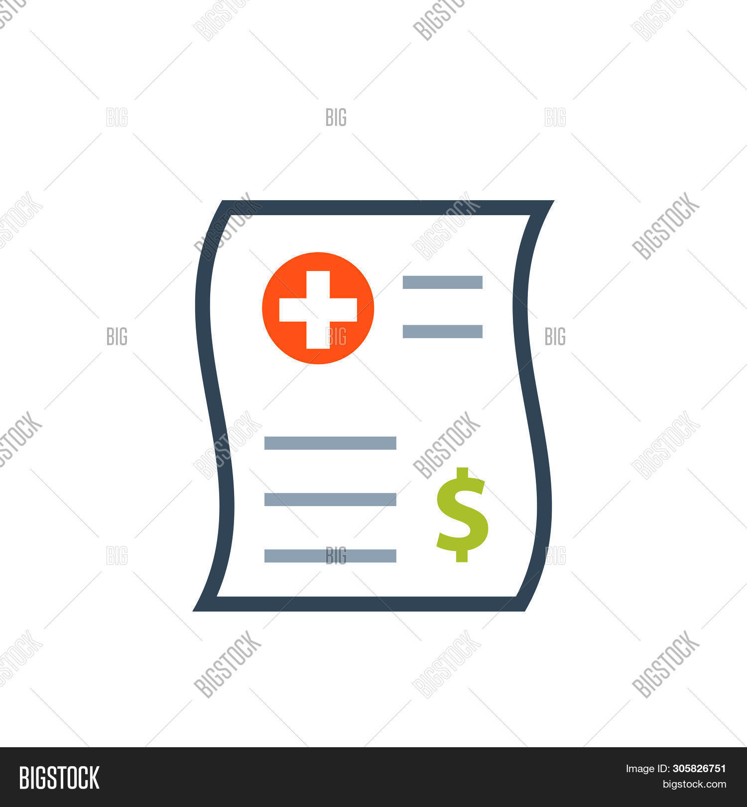 Medical Bill Color Image & Photo (Free Trial).
