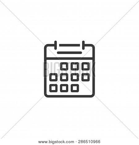 Calendar Icon Line Vector & Photo (Free Trial).