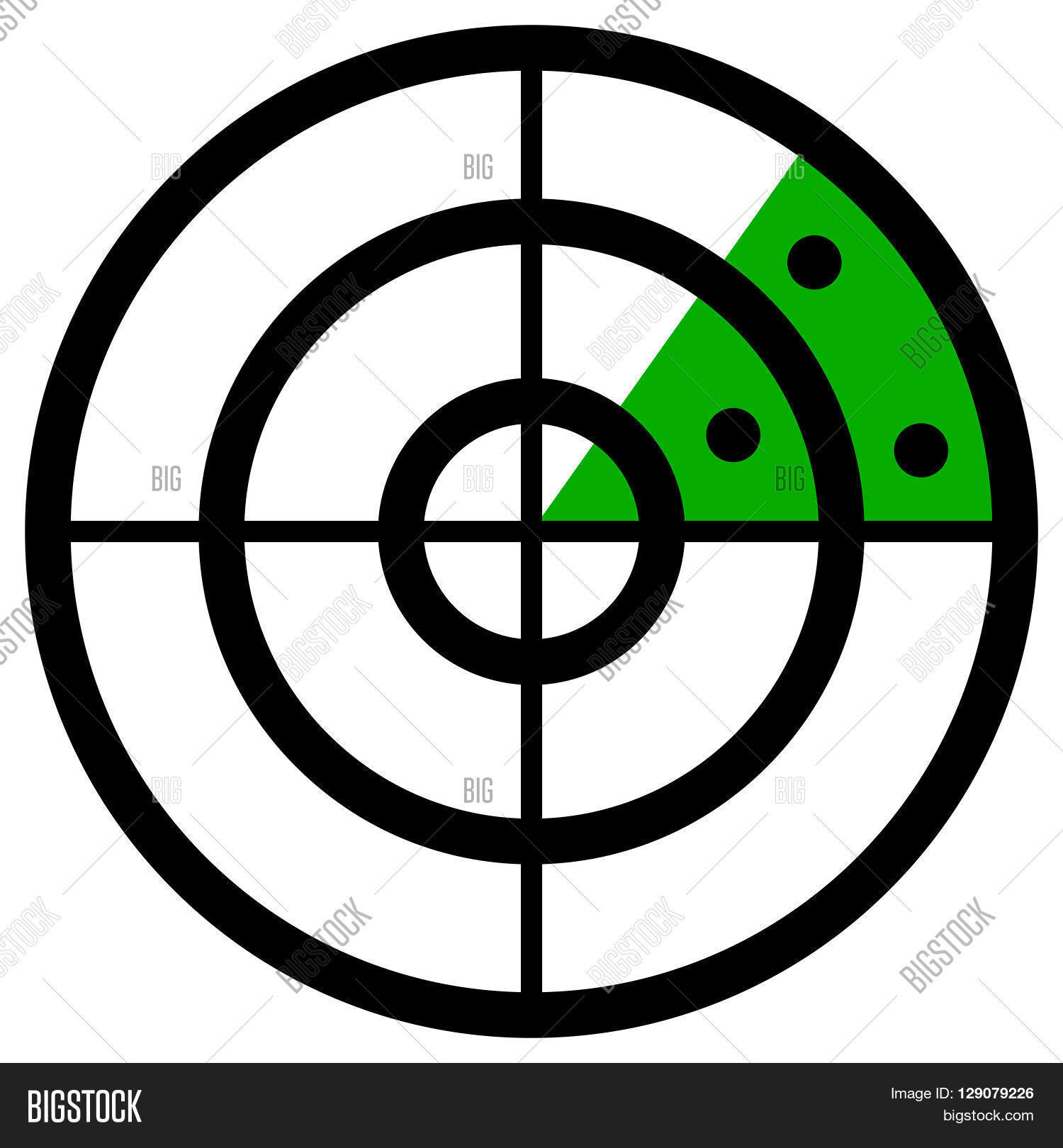Radar Screen Symbol, Vector & Photo (Free Trial).