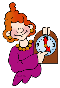 On time clip art.