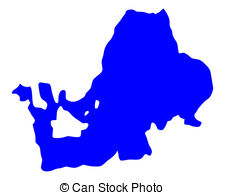 Vector Clip Art of Map of Lake Chiemsee csp23594217.