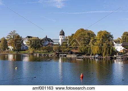 Stock Photo of Germany, Bavaria, Upper Bavaria, Chiemgau, View of.