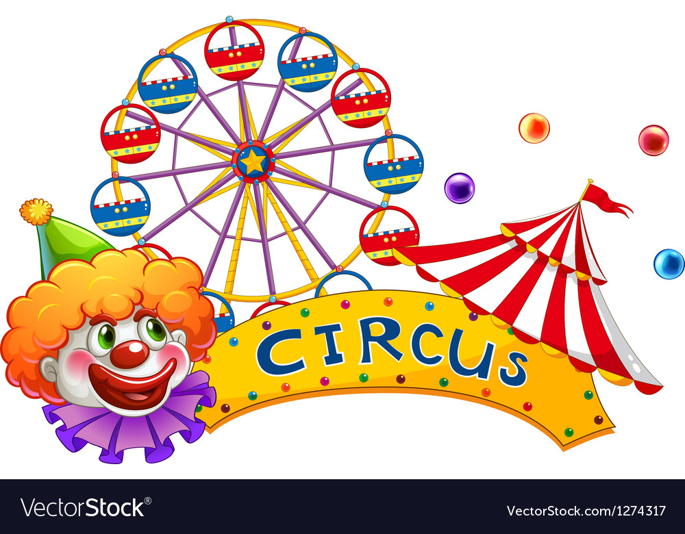 A clown at the circus show vector image.