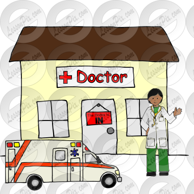 Doctor\'s office Picture for Classroom / Therapy Use.