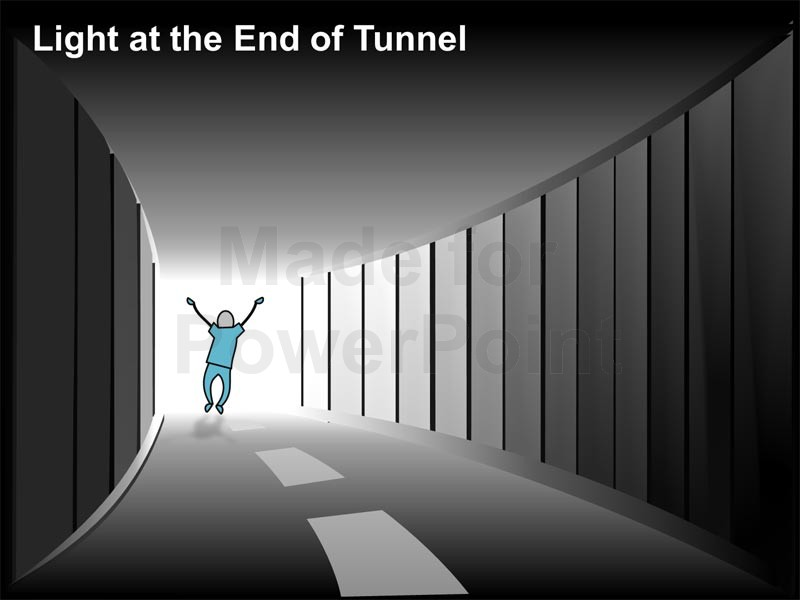 Clipart light at the end of the tunnel.