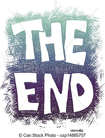 Vector Clipart of The End. Hand drawn. Vector eps8 csp14885707.